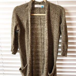 Anthropologie Sparrow Green Open Cardigan Sweater